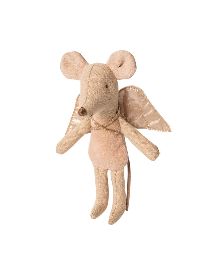 Little maileg play little sister fairy mouse in pink