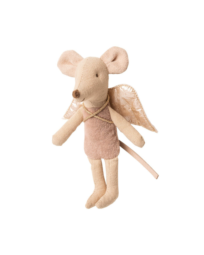 Little maileg play little sister fairy mouse in rose