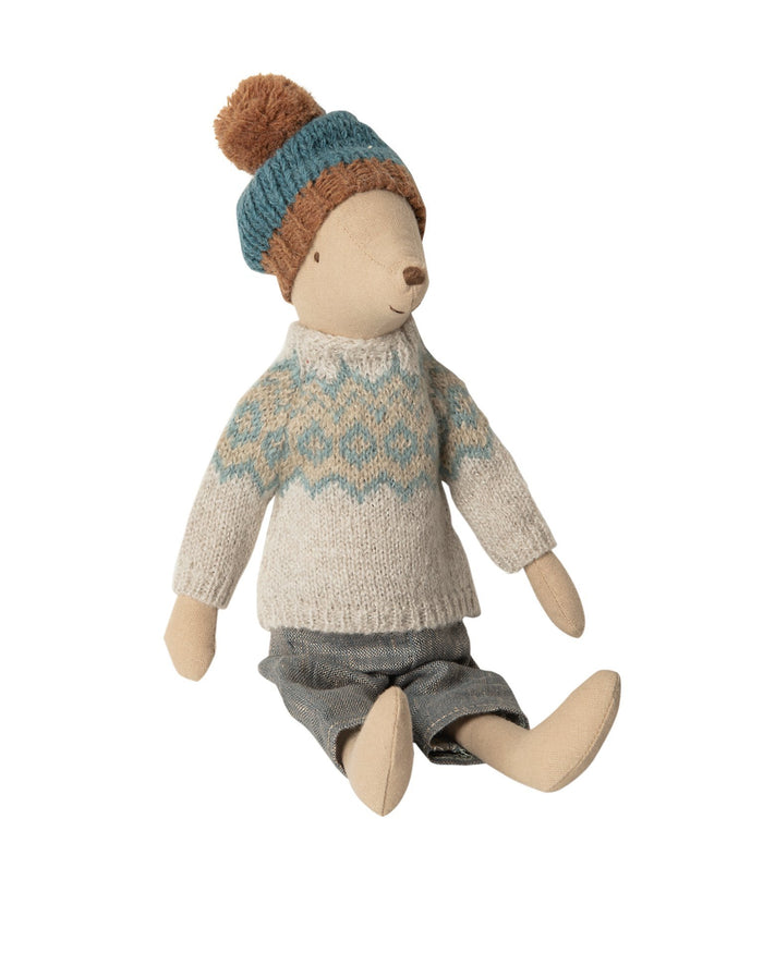 Little maileg play medium boy winter mouse