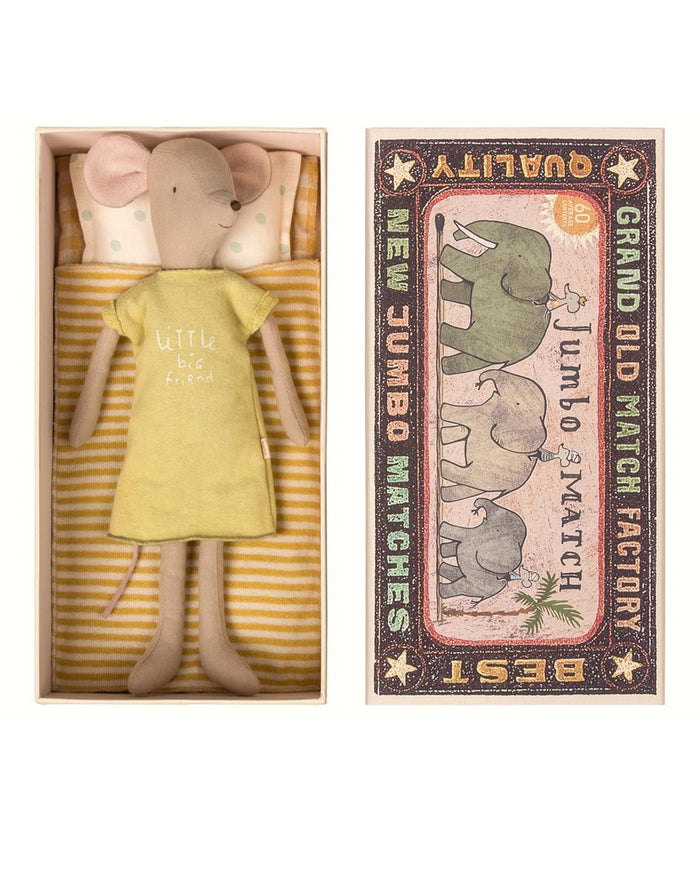 Little maileg play medium girl mouse in a box