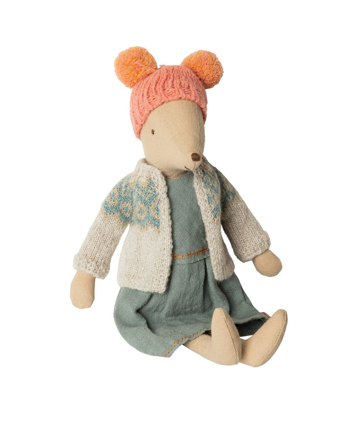 Little maileg play medium girl winter mouse