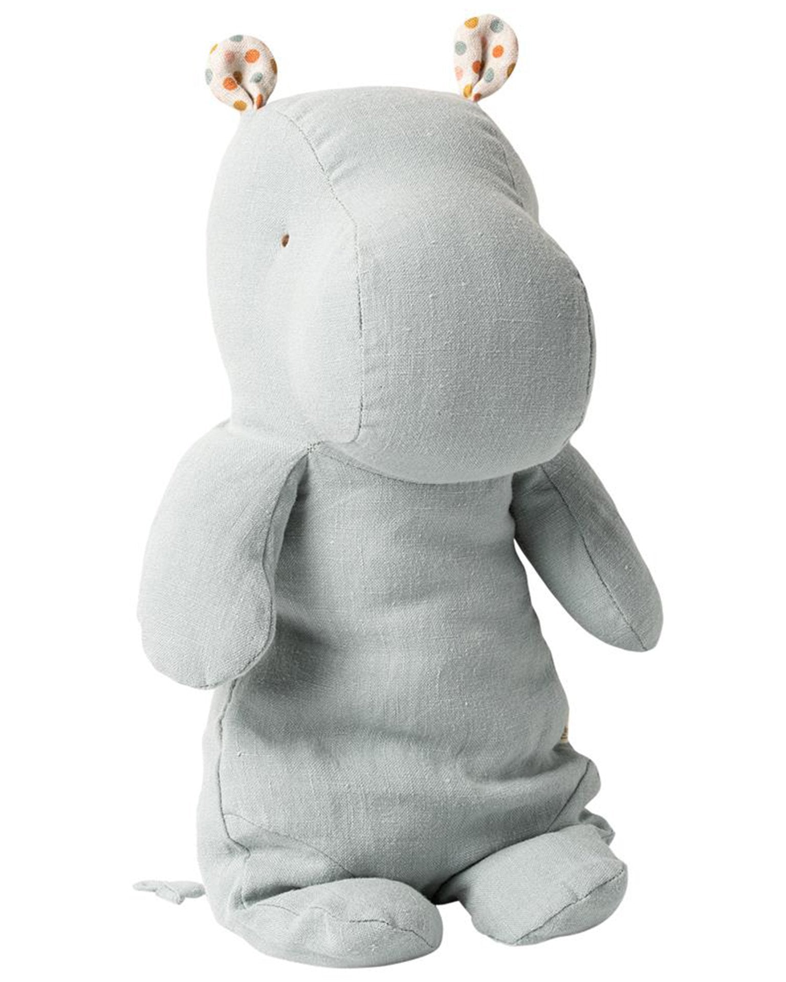 Little maileg play medium hippo in blue grey