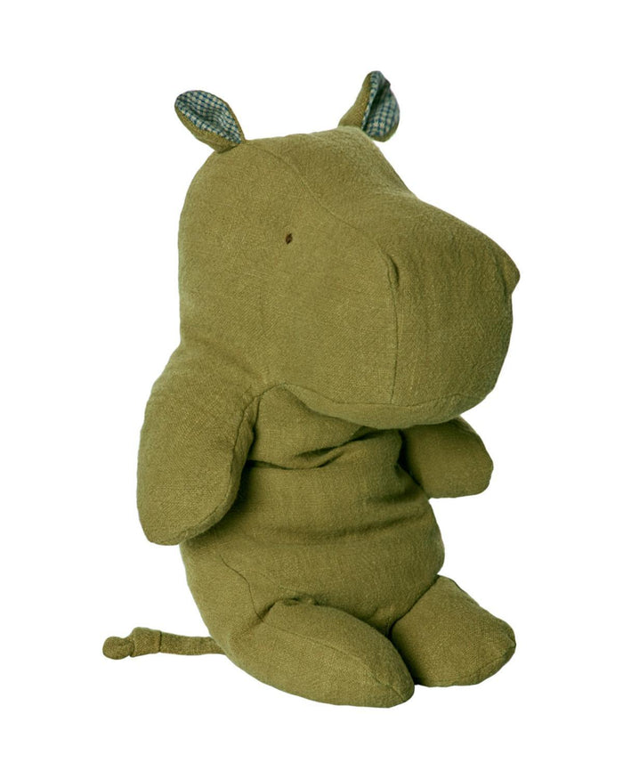 Little maileg play Medium Hippo in Green