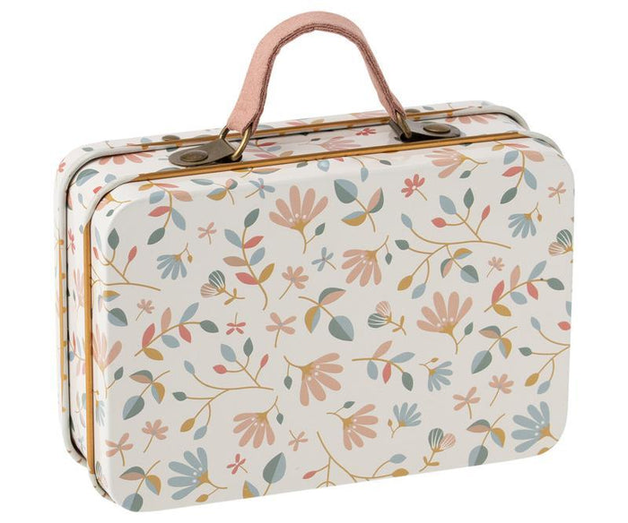 Little maileg play metal suitcase in merle light