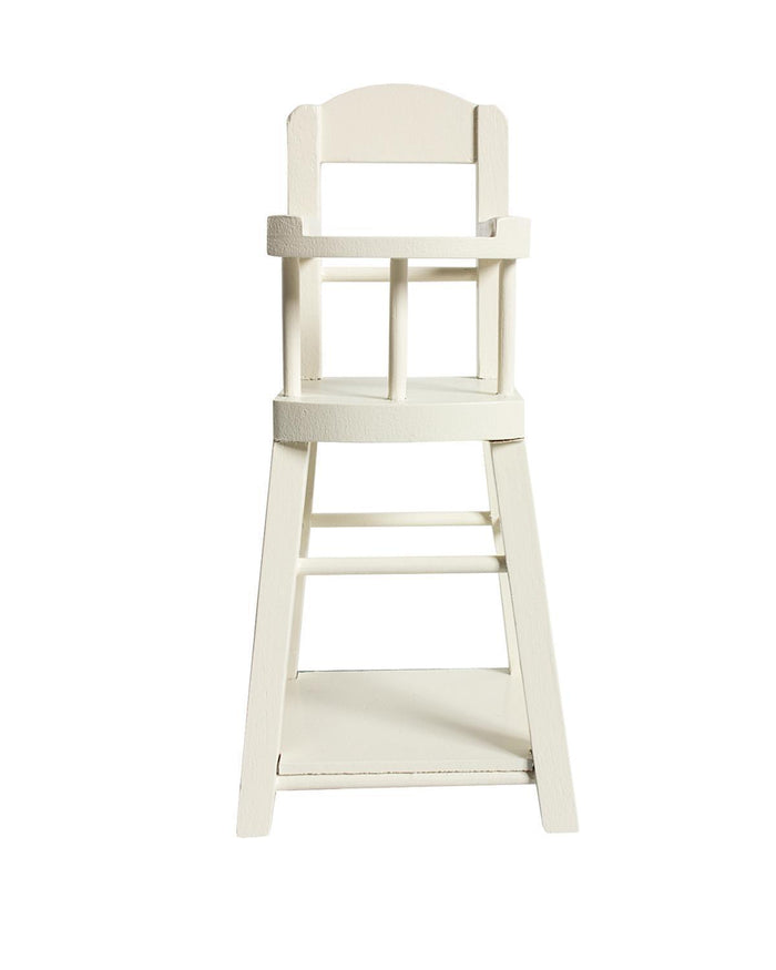 Little maileg play micro high chair in off white