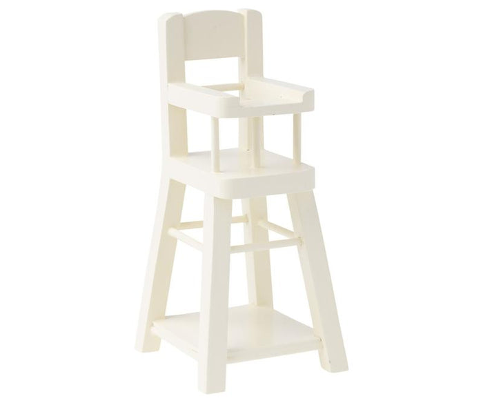 Little maileg play micro high chair in white