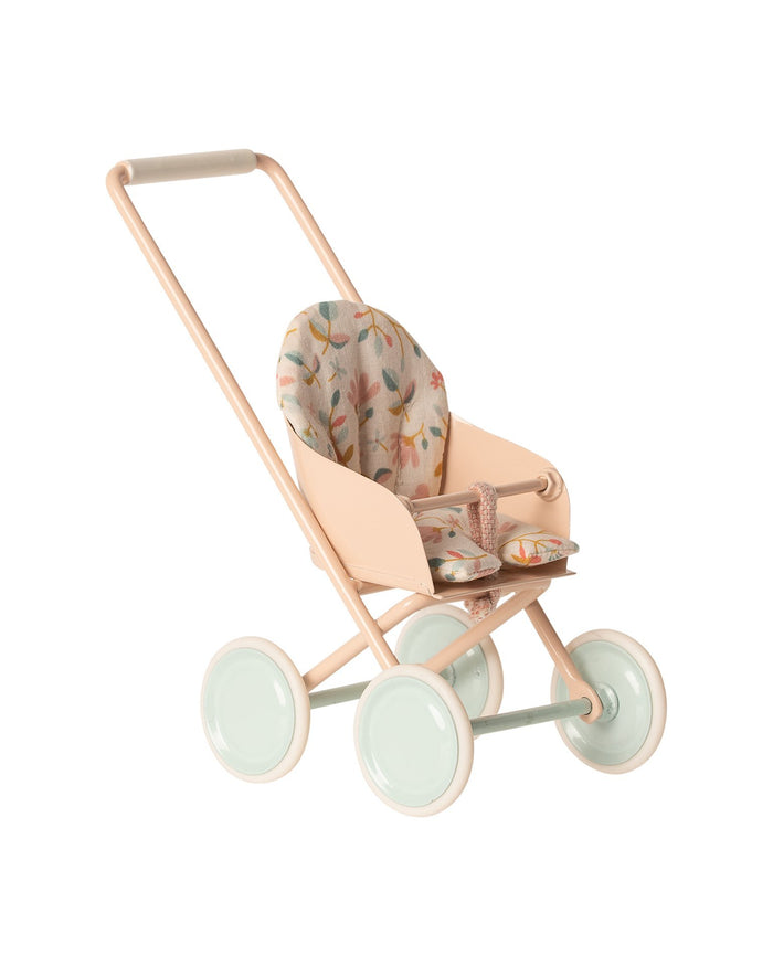 Little maileg play micro stroller in powder