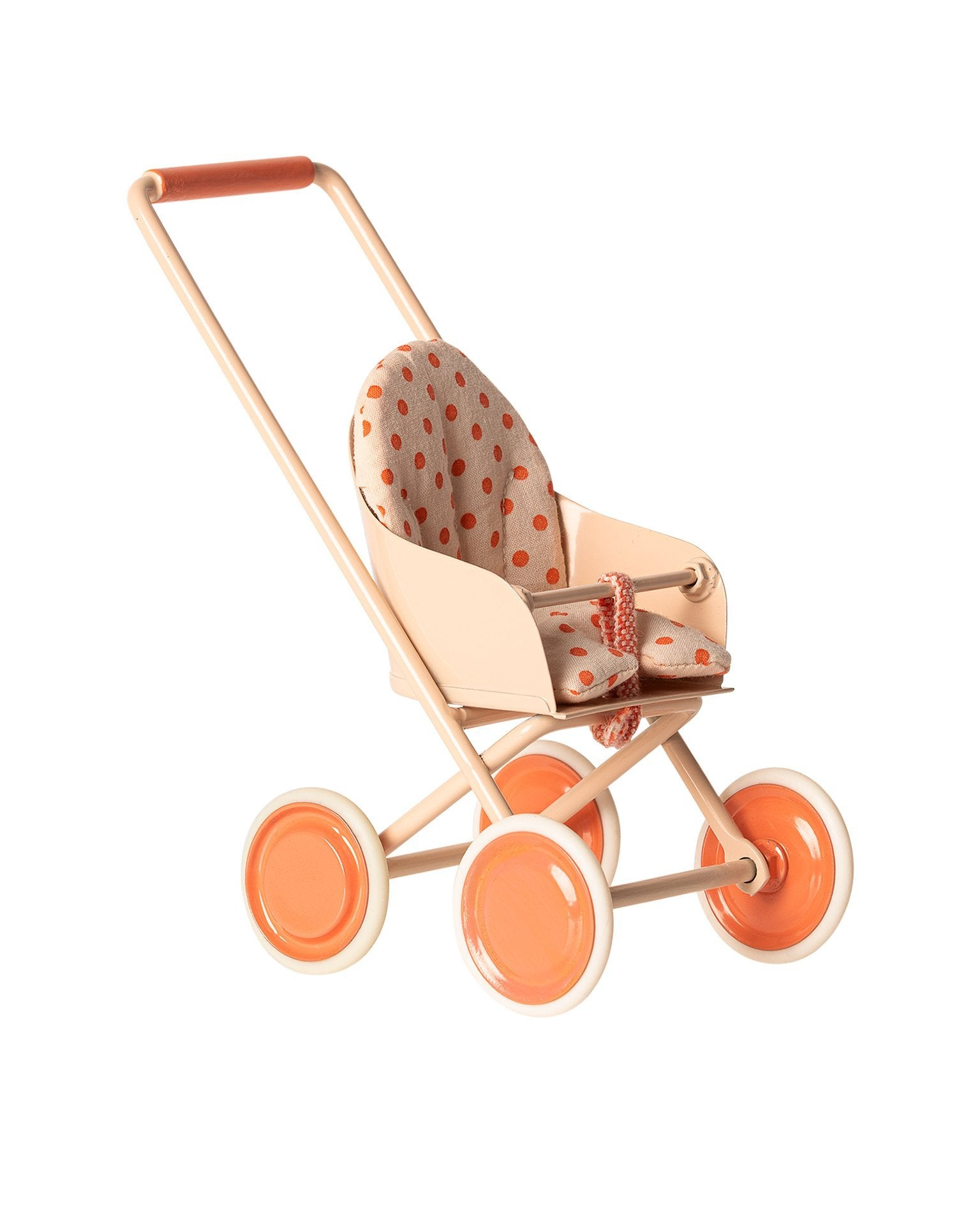 Little maileg play micro stroller in soft coral