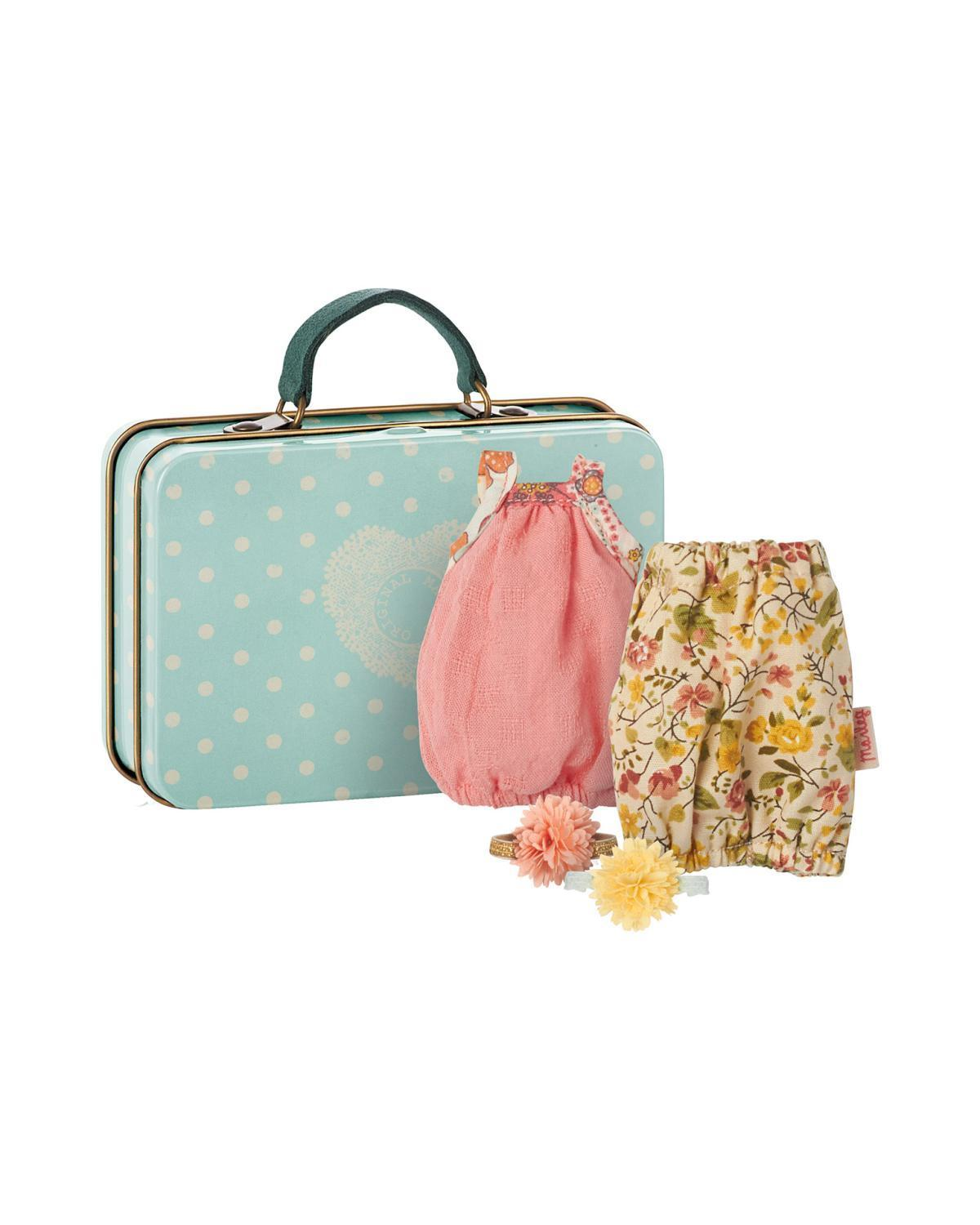 Little maileg play Micro Suitcase + 2 Dresses