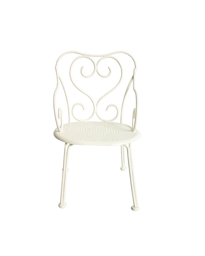 Little maileg play mini romantic chair in off white