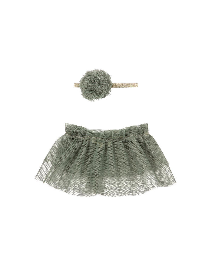 Little maileg play mini tutu + headband in petrol