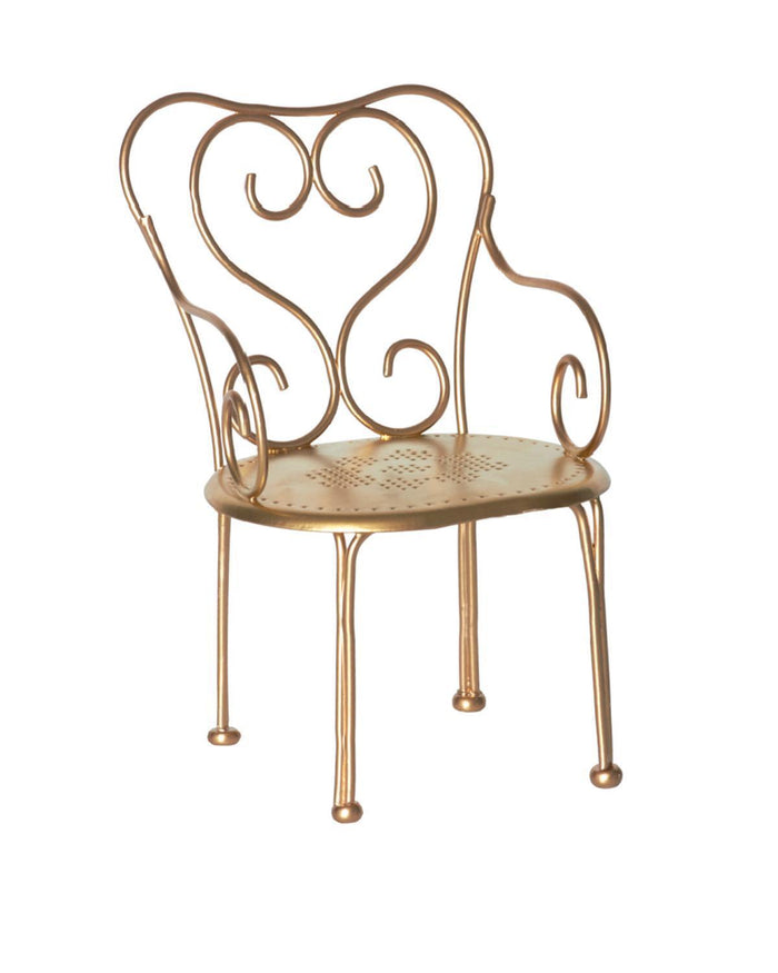 Little maileg play mini vintage chair in gold