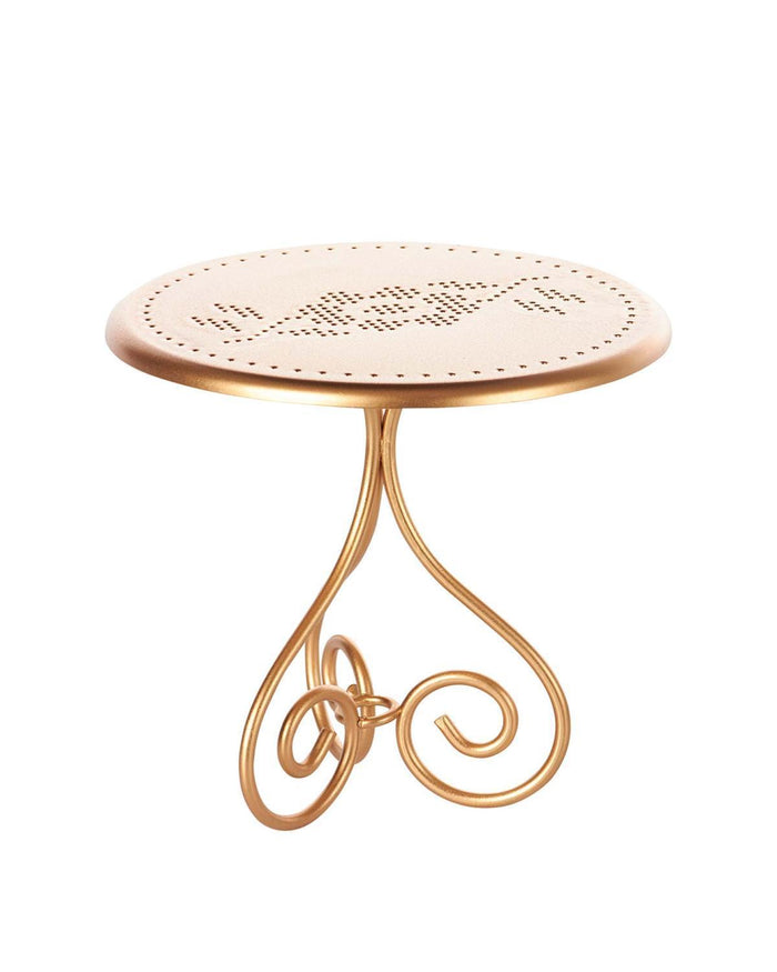 Little maileg play mini vintage coffee table in gold