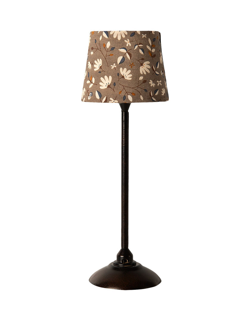 Little maileg play miniature floor lamp in anthracite