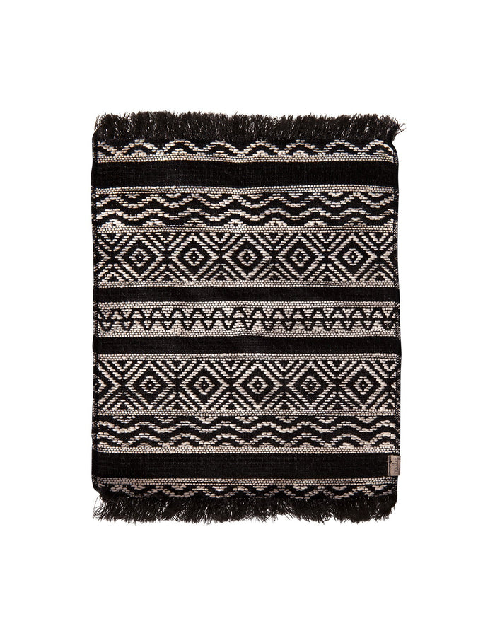 Little maileg play miniature rug in black
