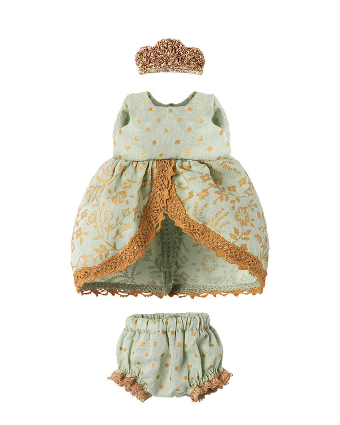 Little maileg play Princess Dress in Mint