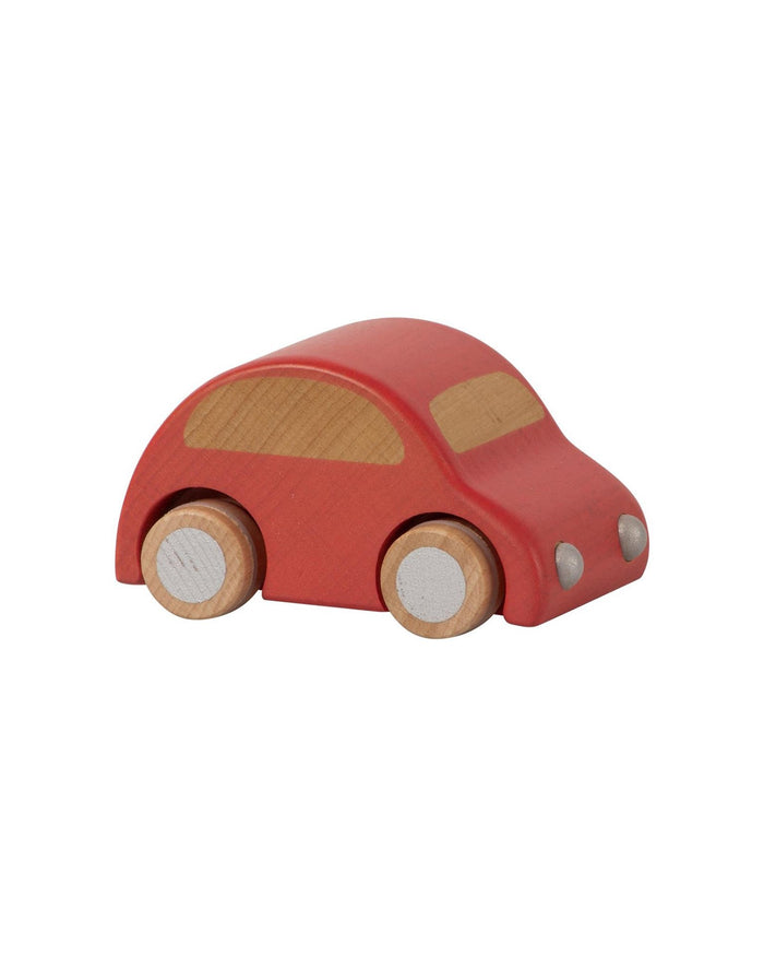 Little maileg play red wooden car