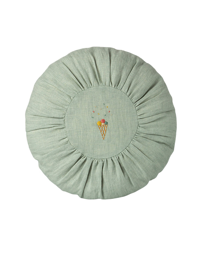 Little maileg play round cushion in mint