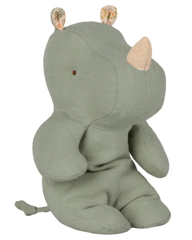 Little maileg play safari friends small rhino in dusty green