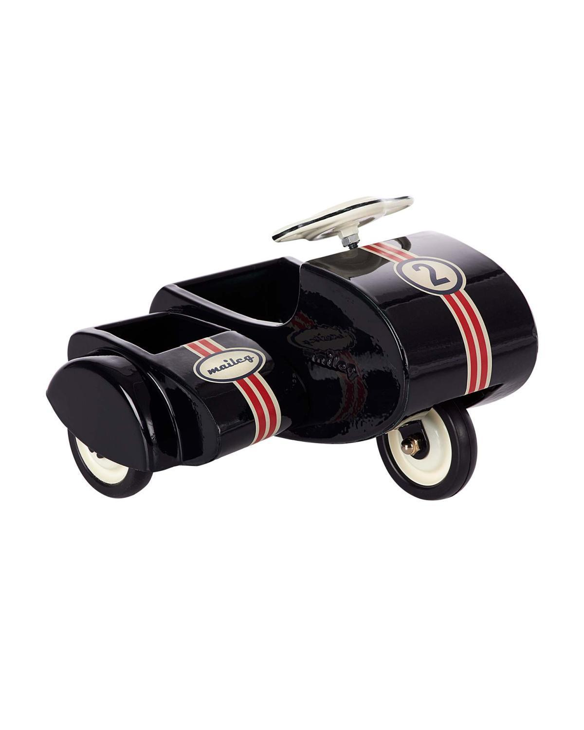 Little maileg play scooter with sidecar in black