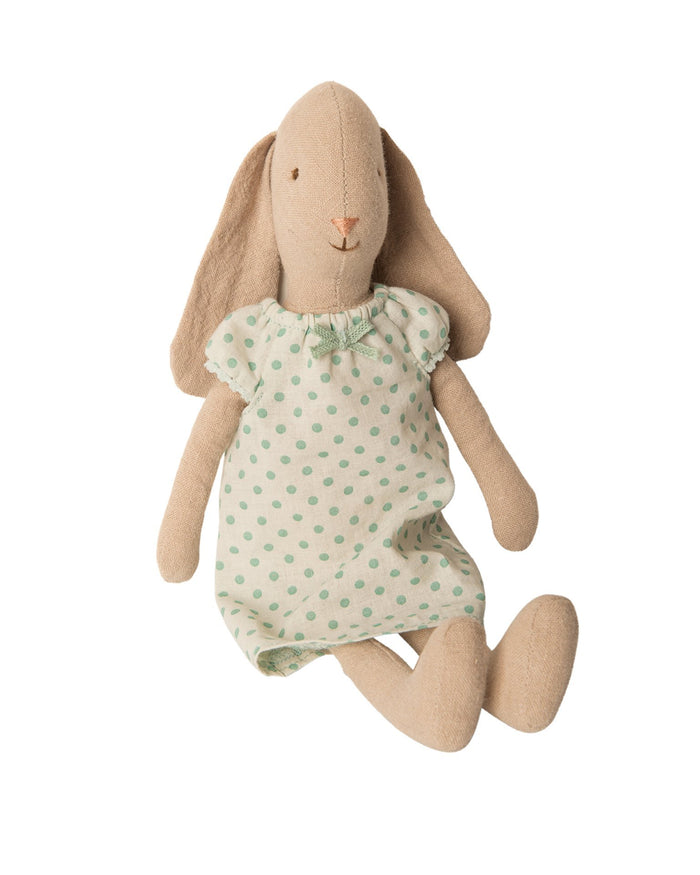 Little maileg play size 2 bunny in mint nightgown