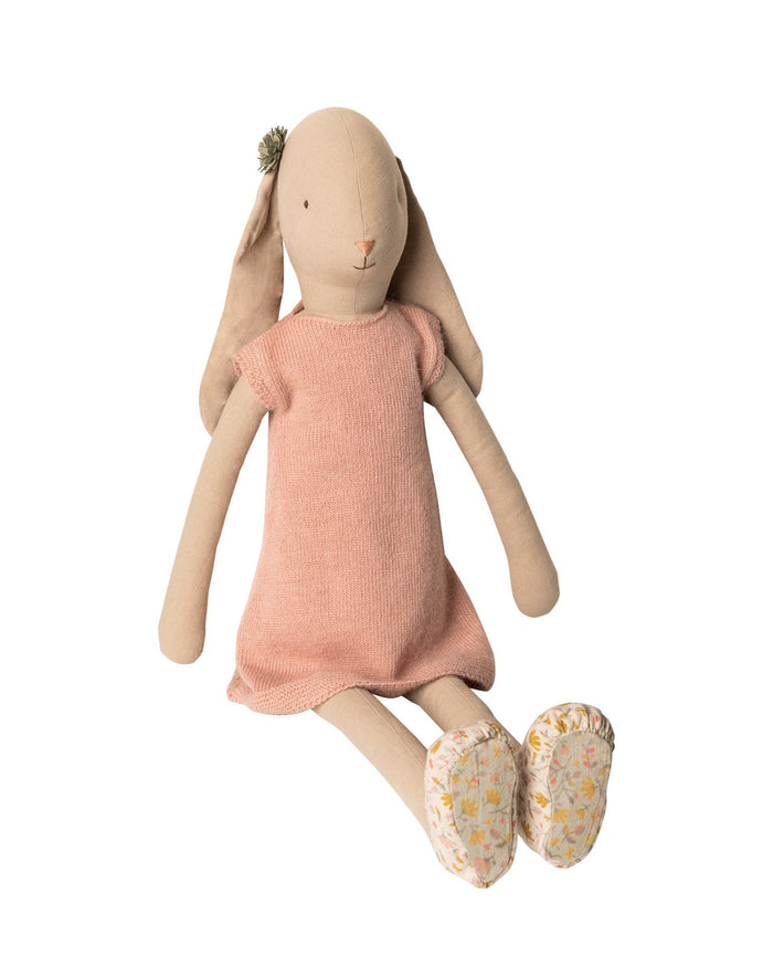 Little maileg play size 5 bunny in knitted dress