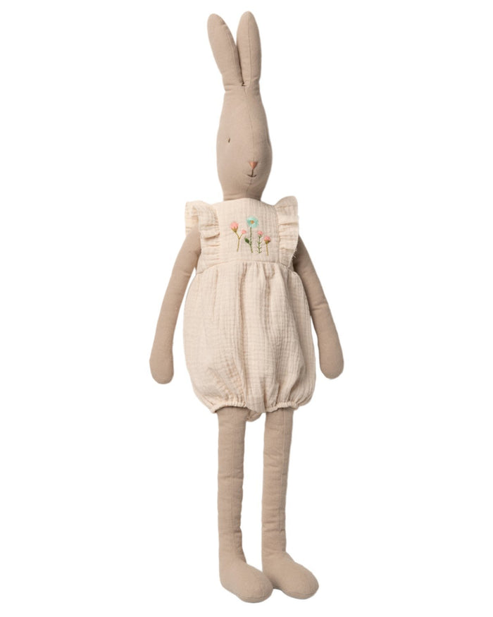 Little maileg play size 5 rabbit in white jumpsuit