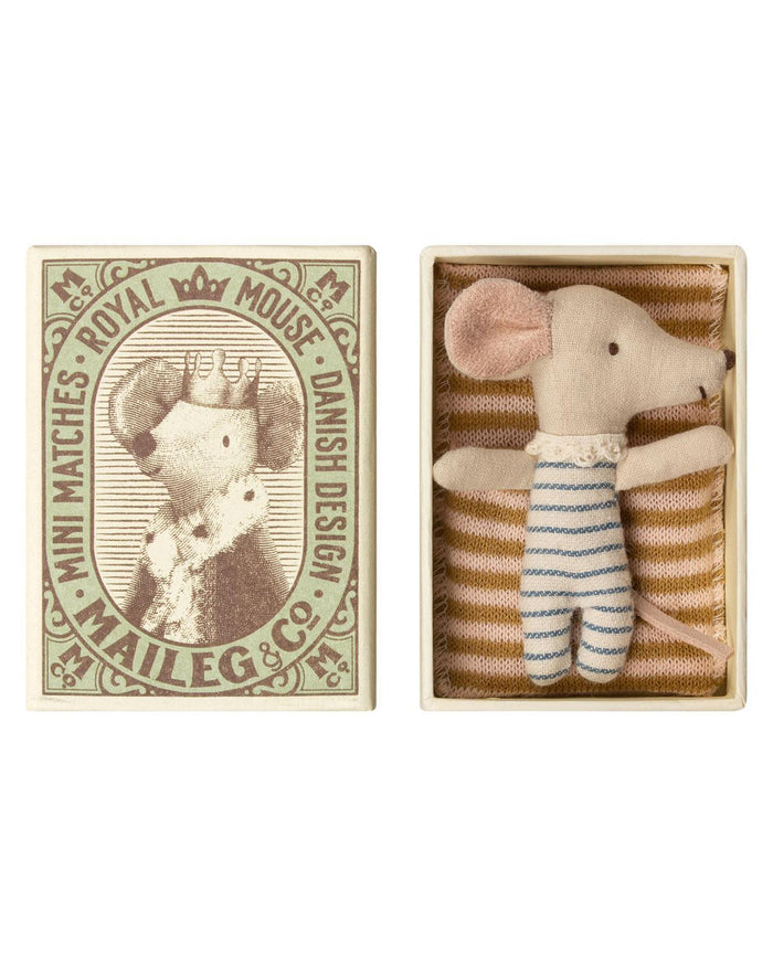 Little maileg play sleepy/wakey mouse in box