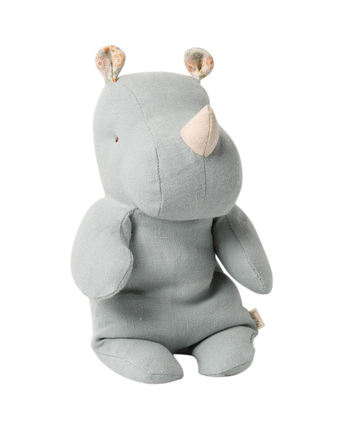 Little maileg play small rhino in blue grey