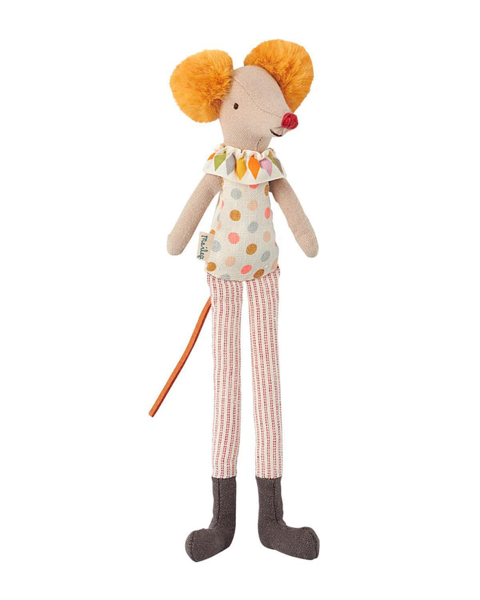 Little maileg play Stilt Clown Mouse
