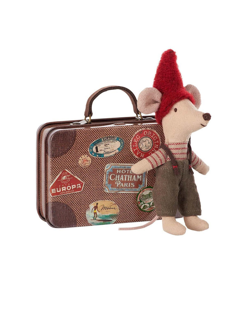 Little maileg play Travel Christmas Mouse