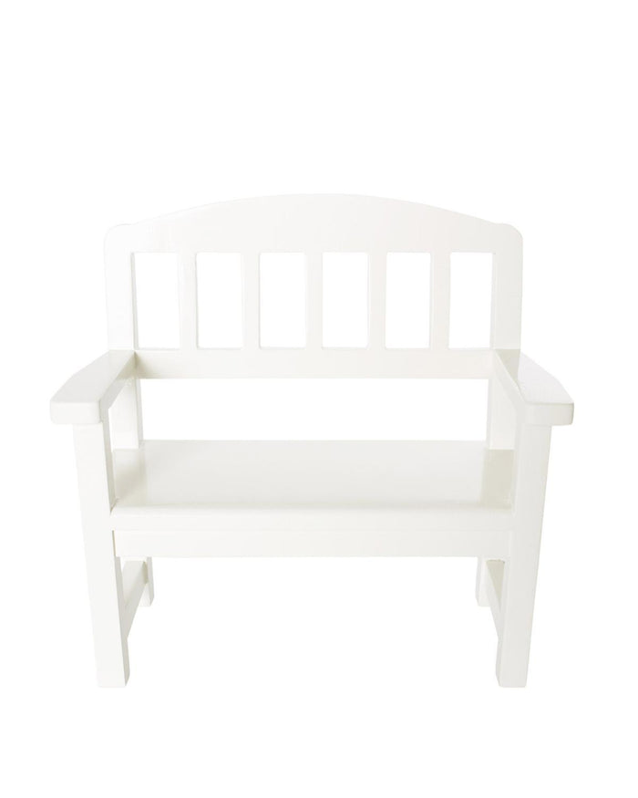 Little maileg play wooden bench in off white