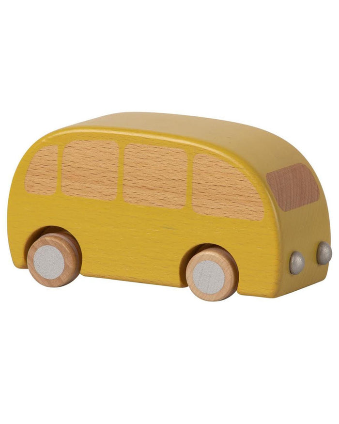 Little maileg play yellow wooden bus