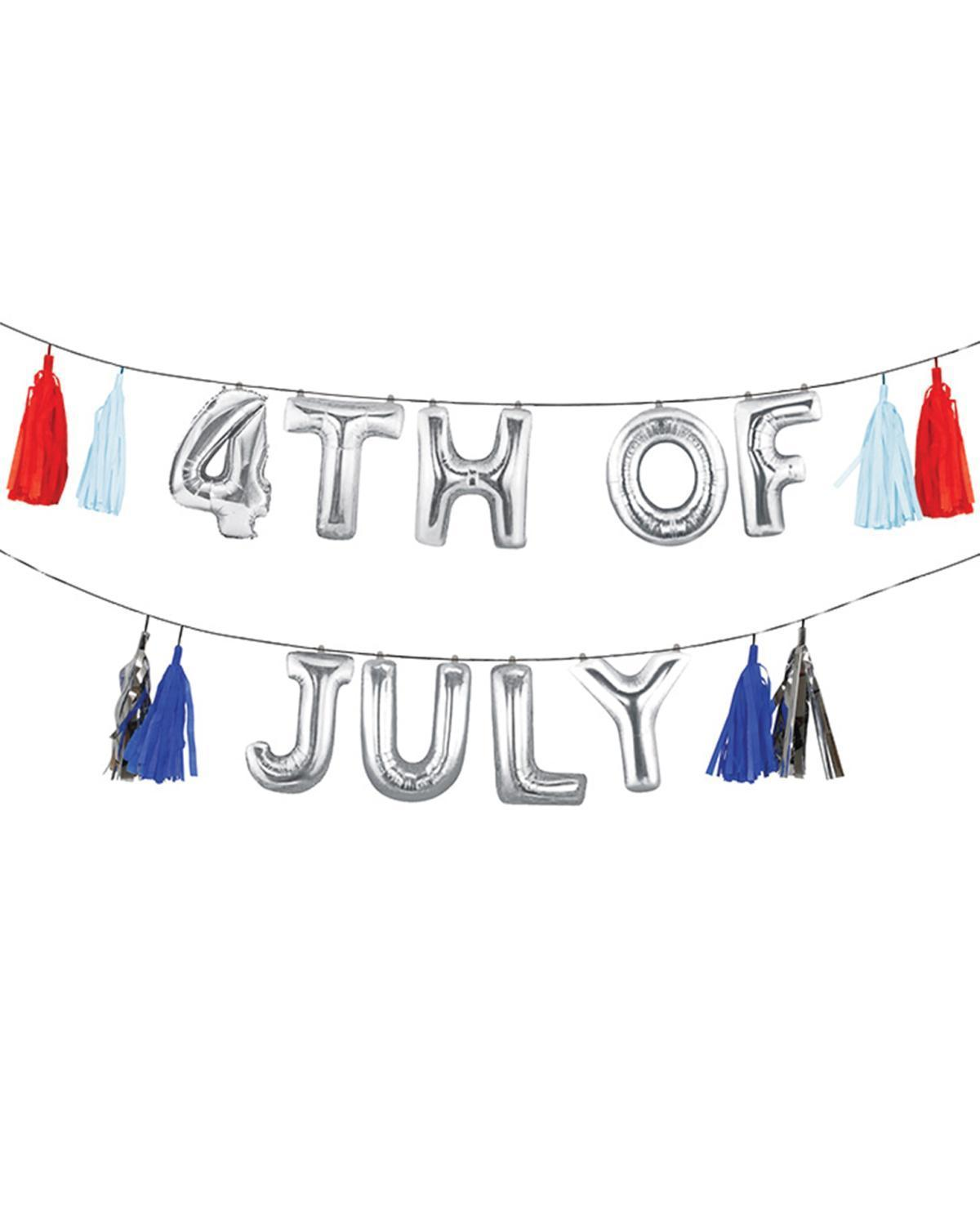 Little meri meri paper+party 4th of July Balloon Garland
