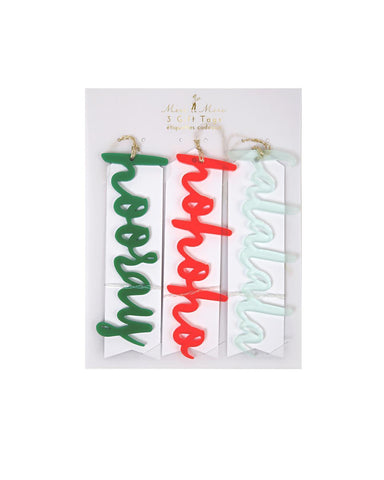 Little meri meri paper+party Acrylic Words Tag Set