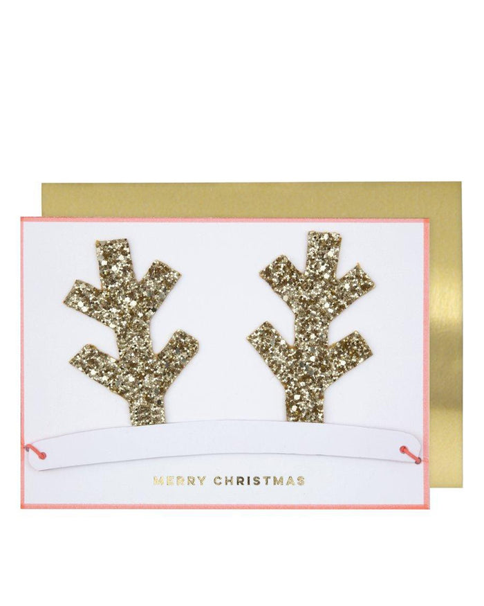 Little meri meri paper+party antlers christmas crown card