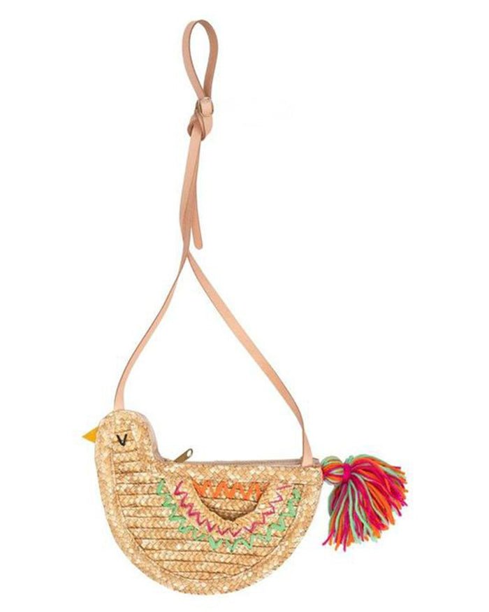 Little meri meri accessories bird straw bag