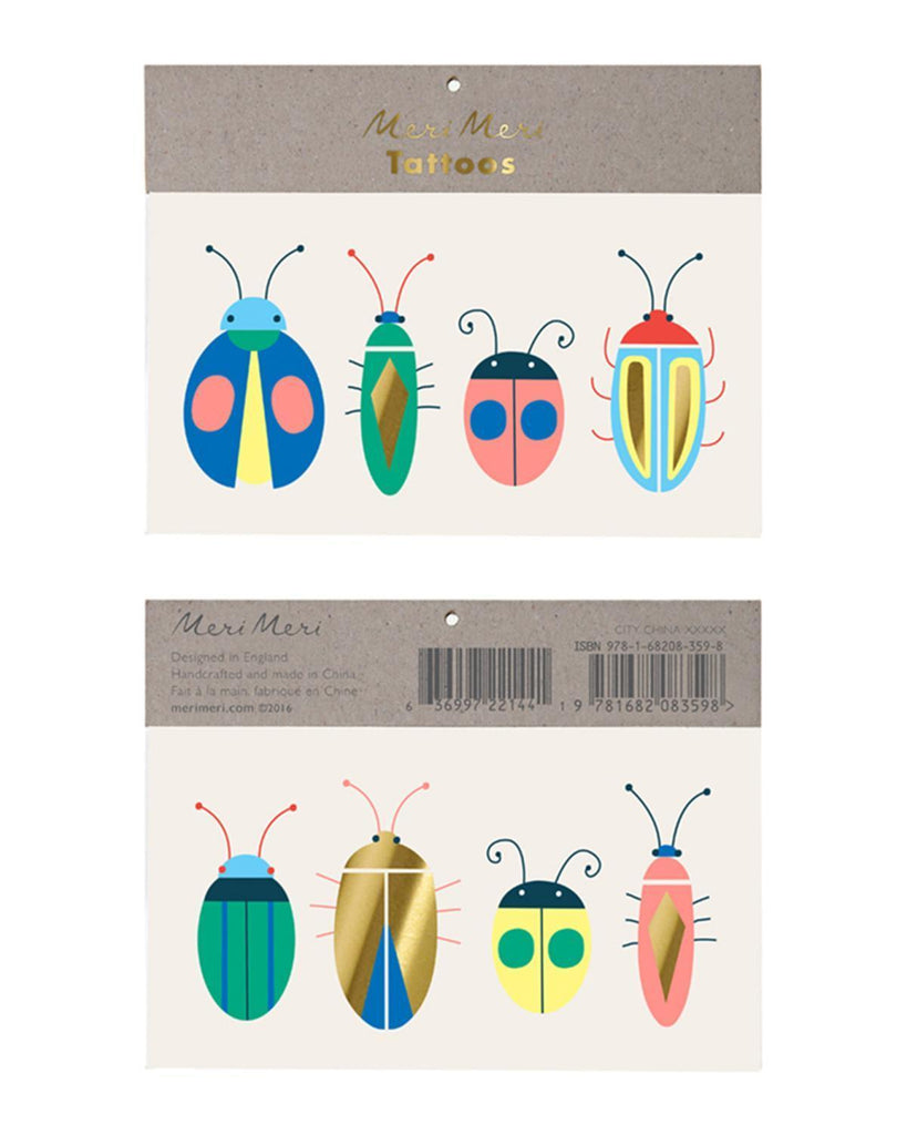 Little meri meri paper+party bug tattoos