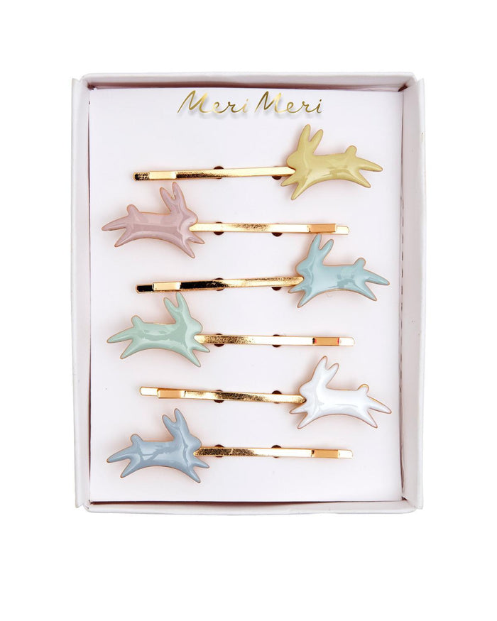 Little meri meri accessories bunny enamel hair slides