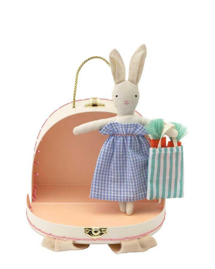 Little meri meri play bunny mini suitcase doll