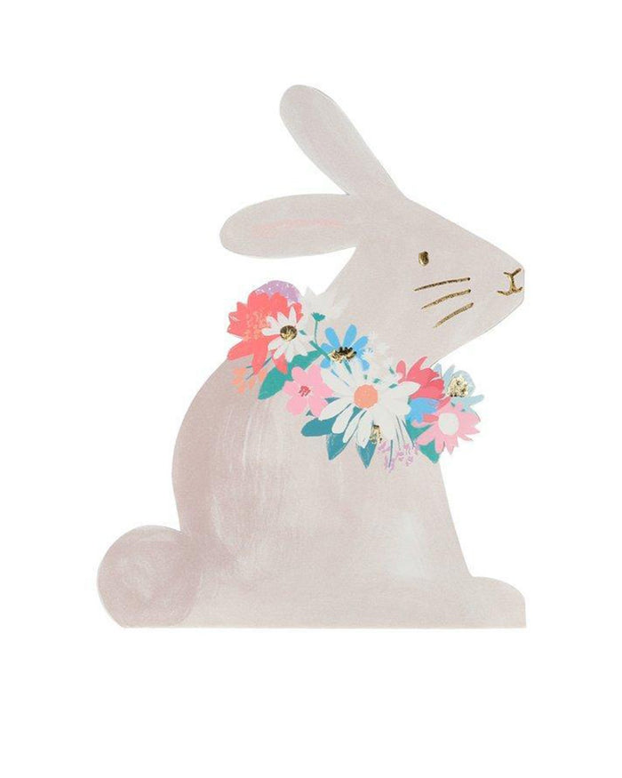 Little meri meri paper + party bunny napkin