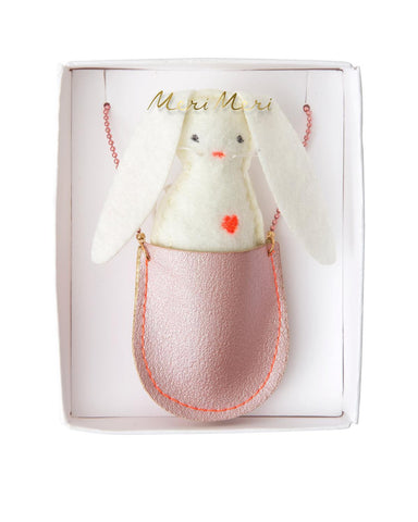 Little meri meri accessories bunny pocket necklace