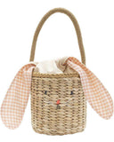 Little meri meri accessories bunny woven straw bag