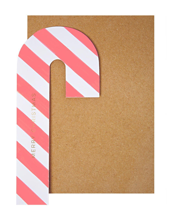 Little meri meri paper+party Candy Cane Card