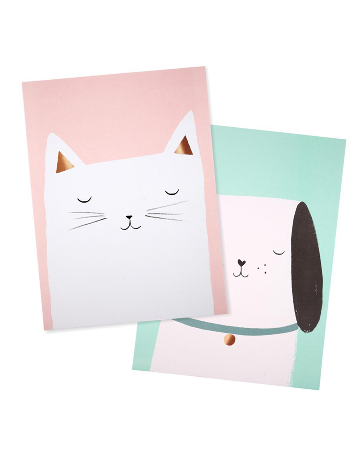 Little meri meri room cat + dog prints