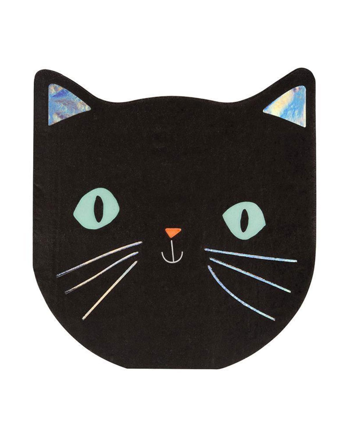 Little meri meri paper+party cat napkin