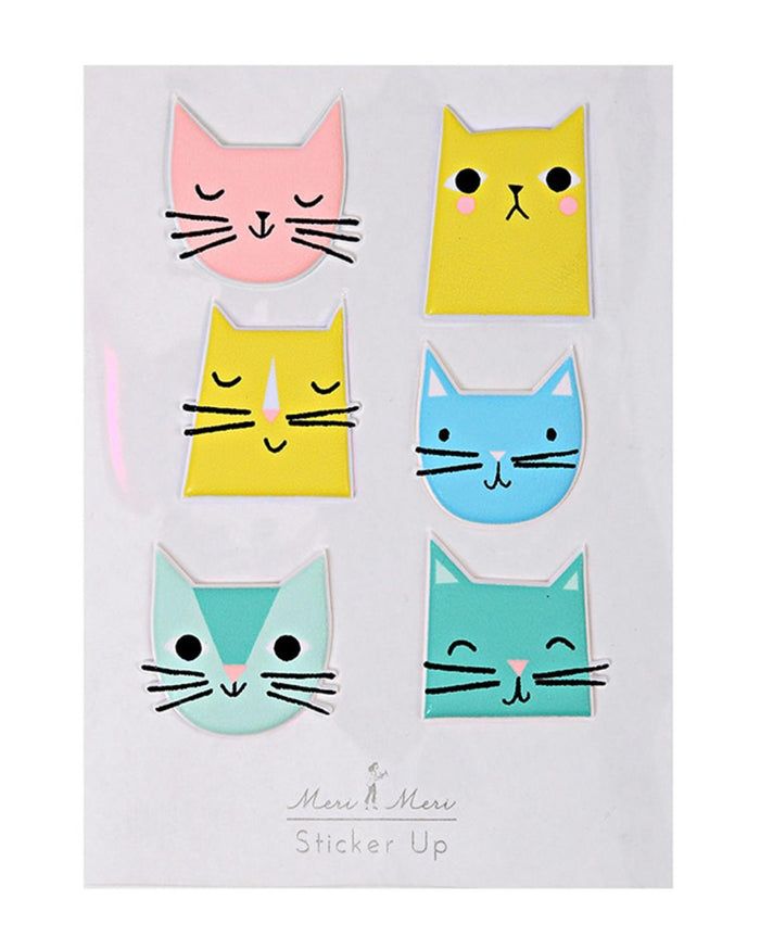 Little meri meri paper+party Cat Stickers