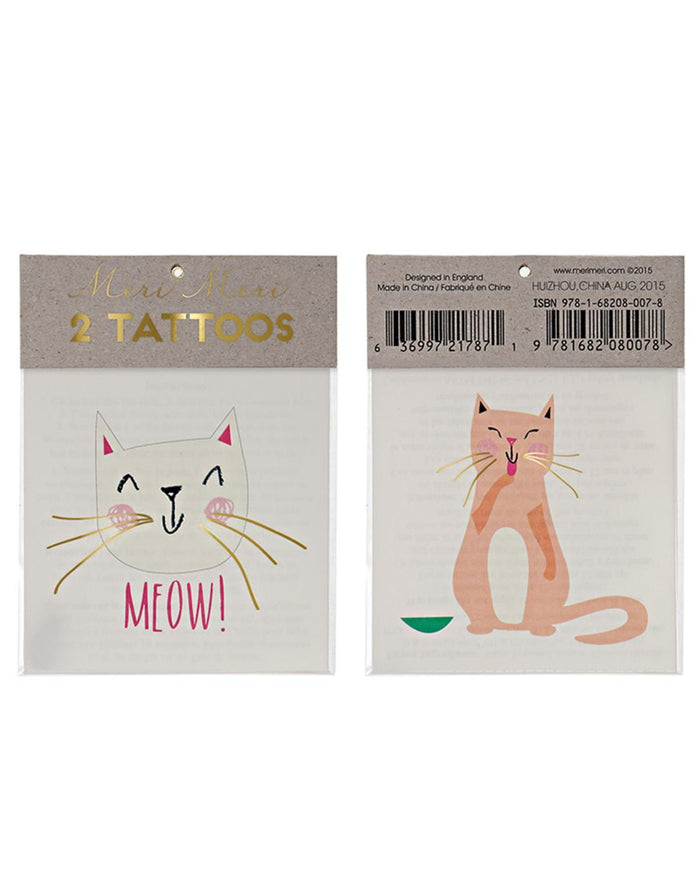 Little meri meri paper+party Cat Tattoos