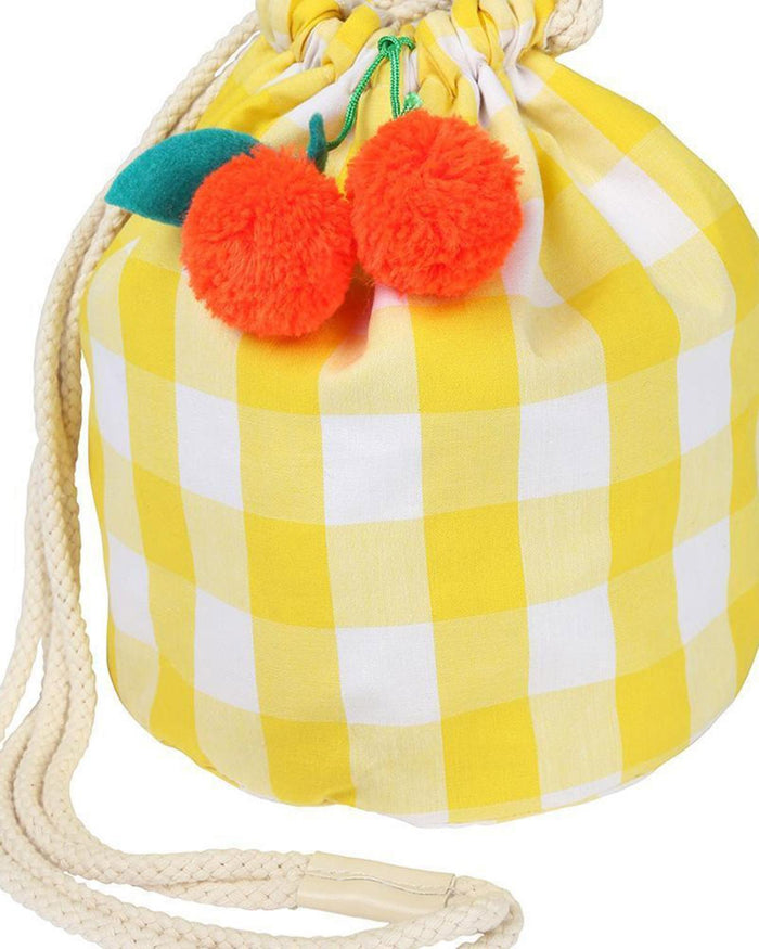 Little meri meri accessories cherry gingham bag