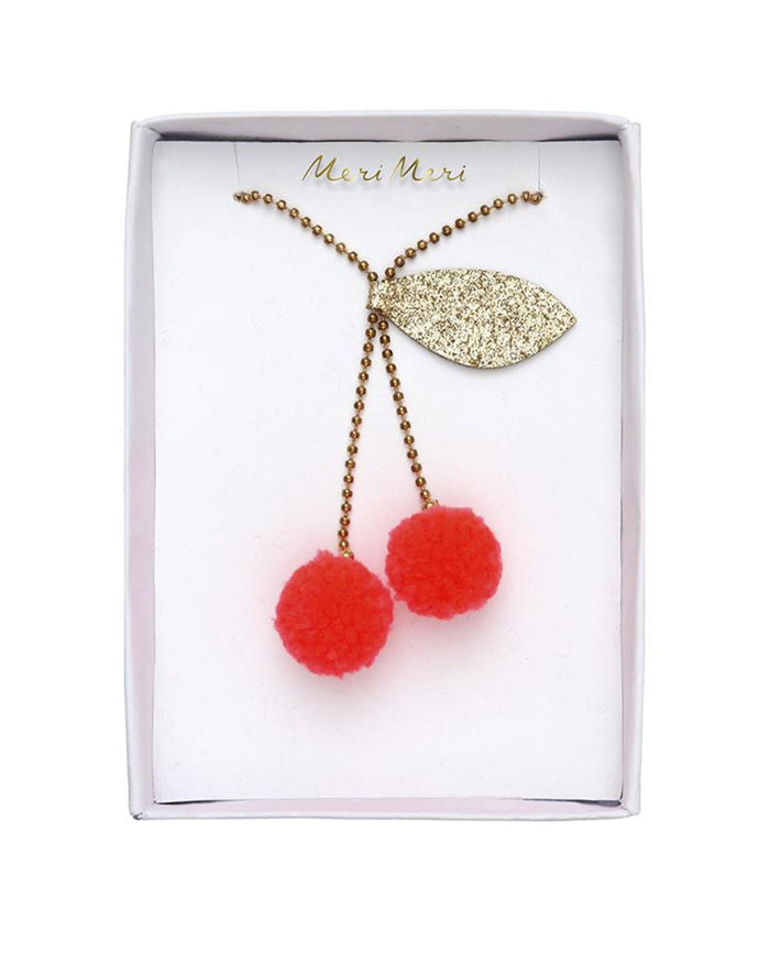 Little meri meri accessories cherry pompom necklace